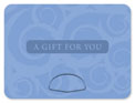 gift card holder blue swirl gift bag