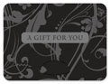 gift card holder blue denim